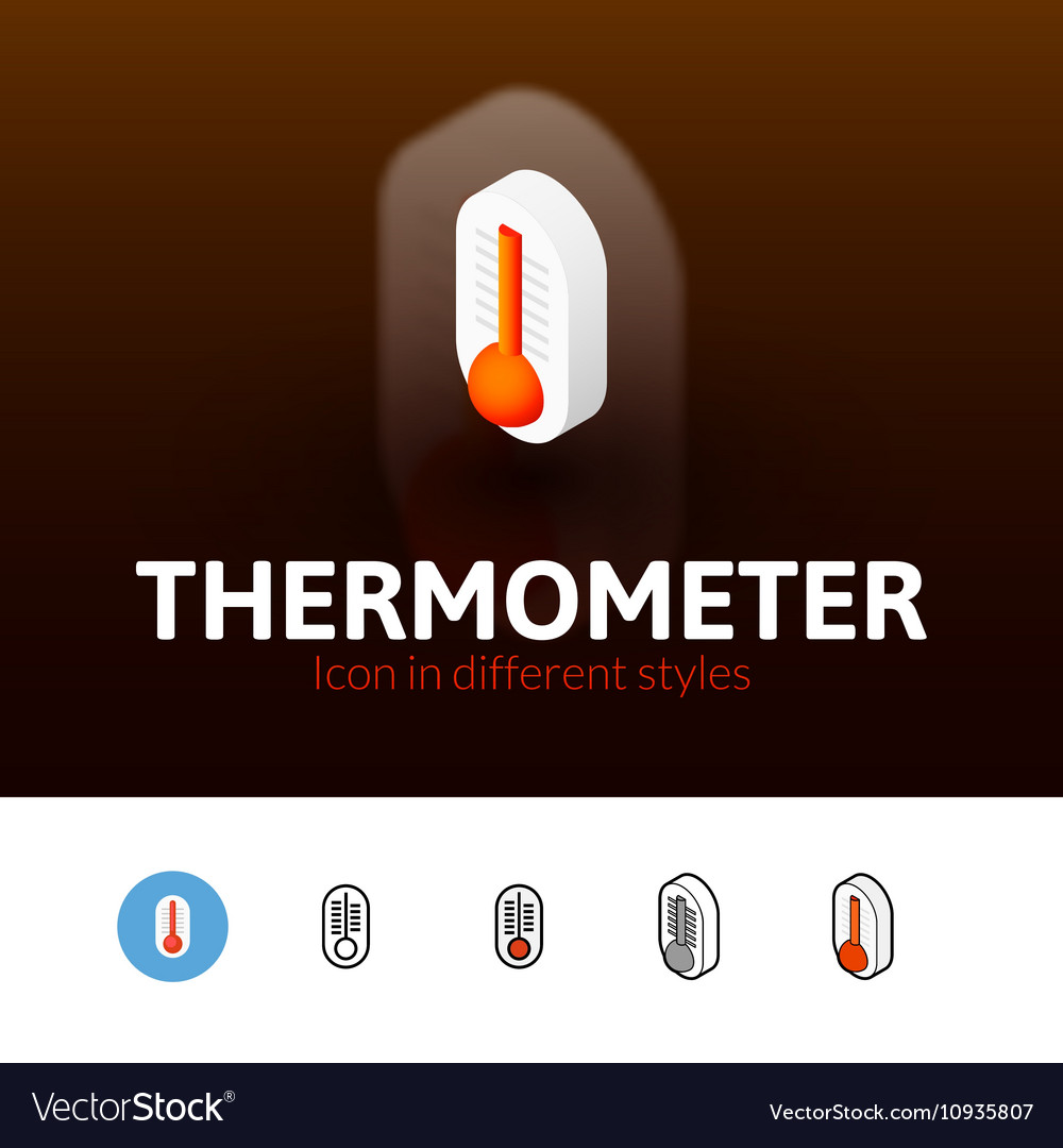 Thermometer icon in different style
