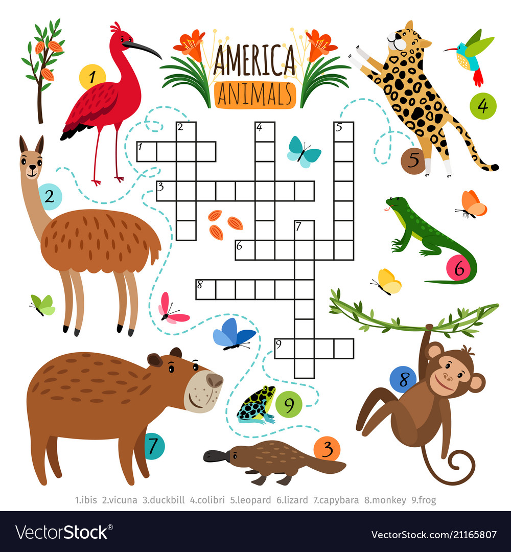 Wild animals crossword puzzle