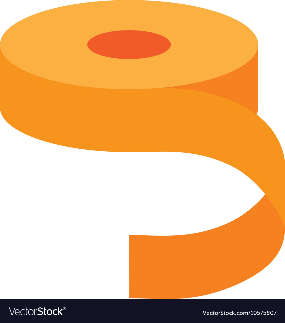 Yellow roll of adhesive tape