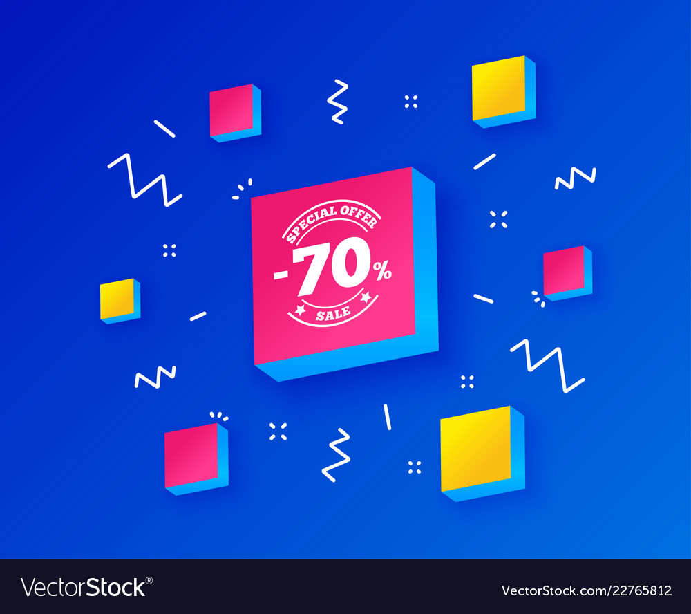 70 percent discount sign icon sale symbol