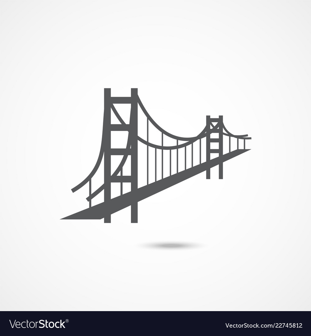 Golden gate bridge icon