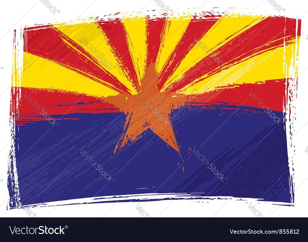 Grunge Arizona flag vector image