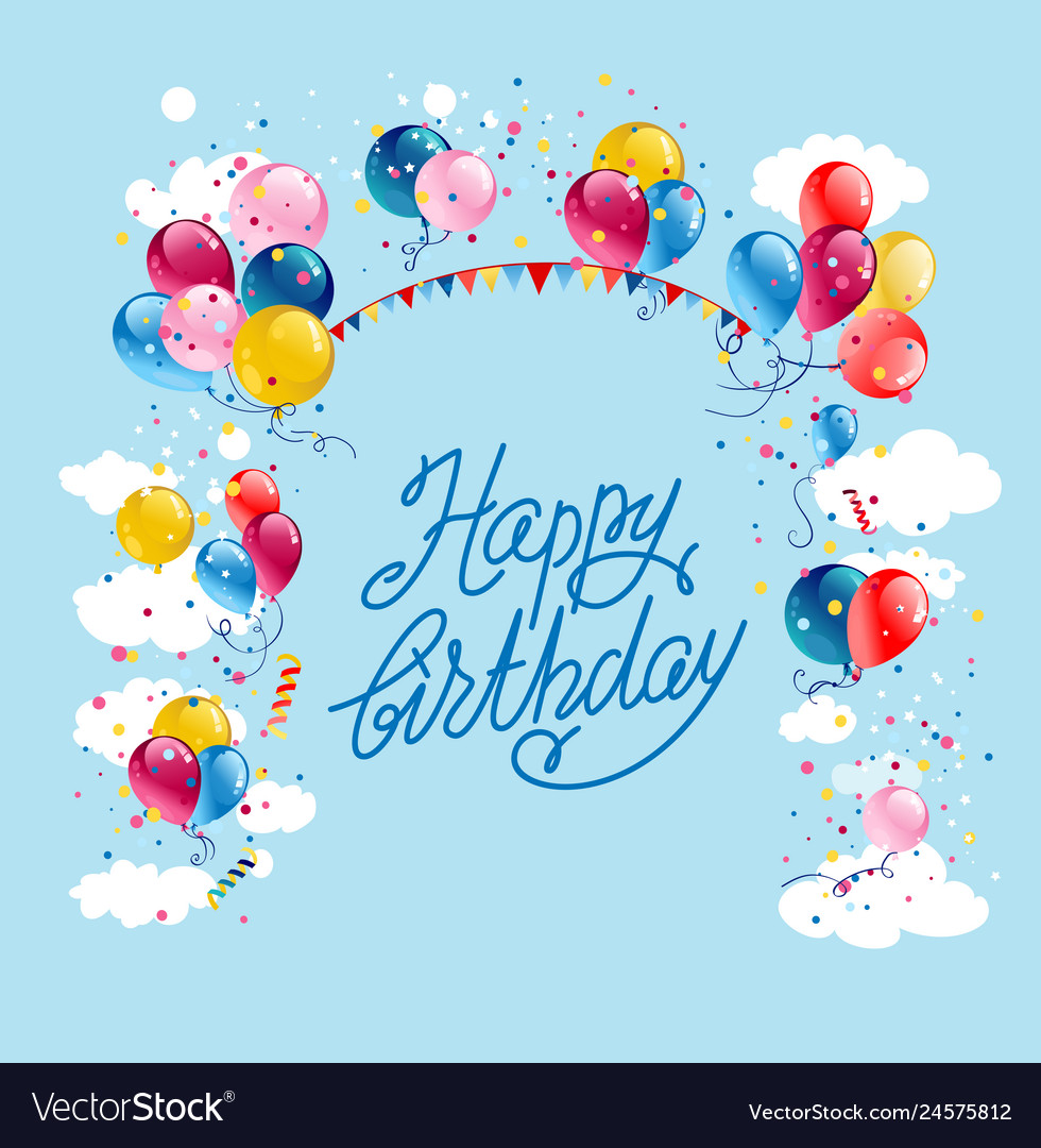 Pleasant Happy Birthday Card Royalty Free Vector Image Vectorstock Personalised Birthday Cards Paralily Jamesorg