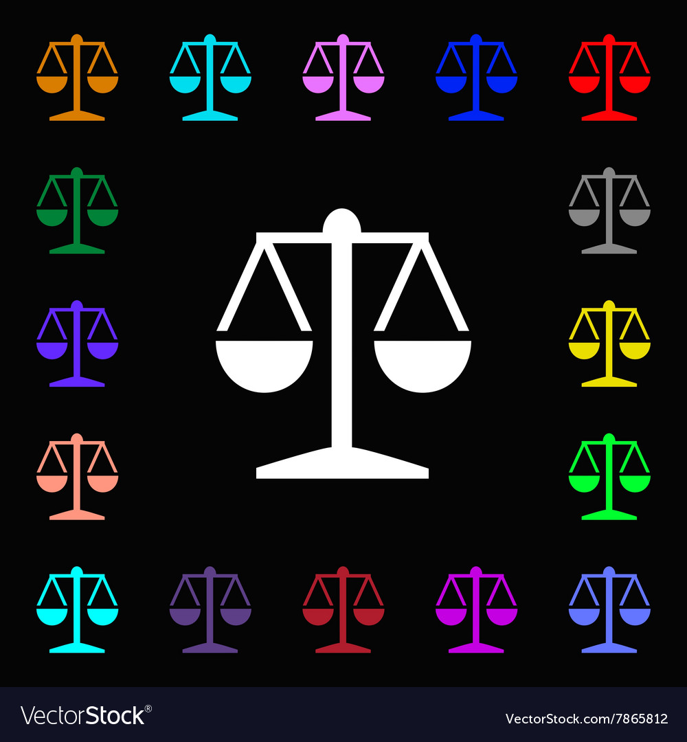 Libra Icon Sign Lots Of Colorful Symbols For Your Vector Image