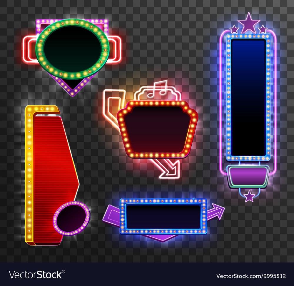 Retro light banner set