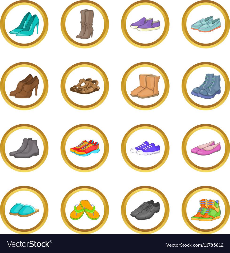 Shoe set cartoon style