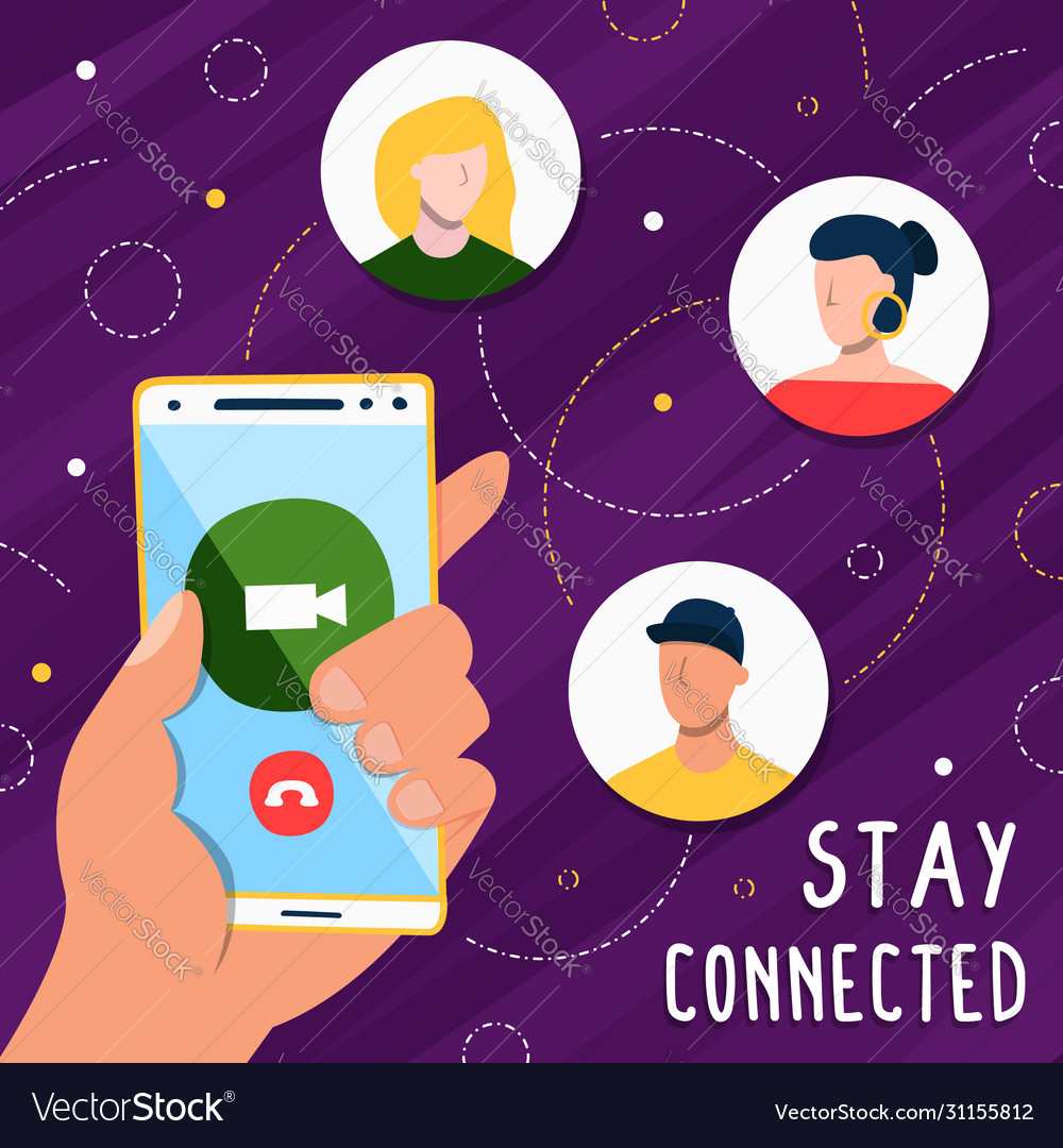 Stay connected on social media phone app