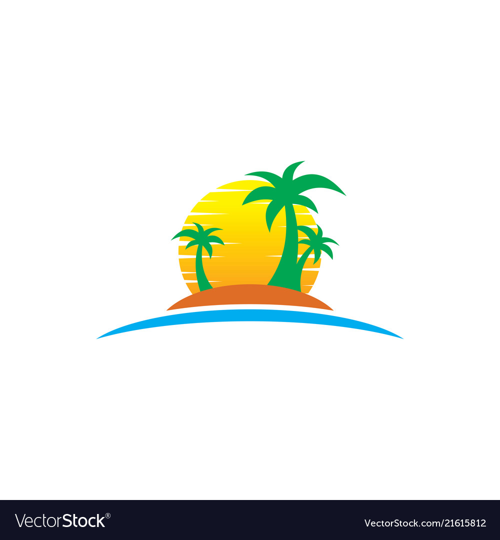 Travel summer logo holiday tour island