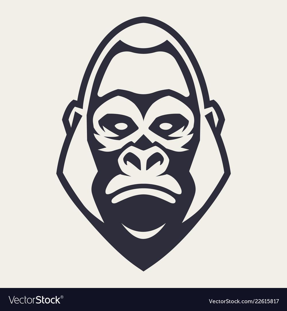 Gorilla mascot icon