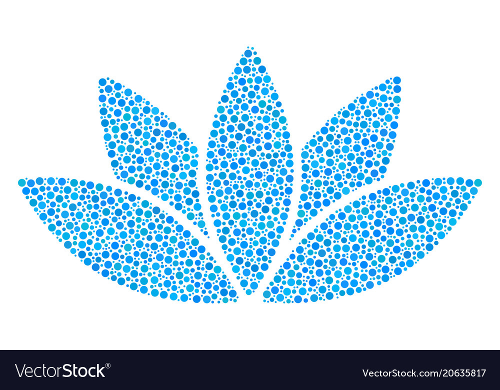 Lotus Flower Mosaic Of Dots Royalty Free Vector Image