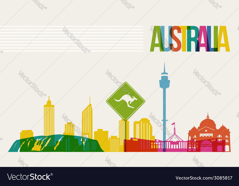 Travel Australia destination landmarks skyline