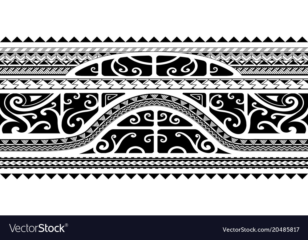 81cc129515d0e Tribal style arm band tattoo seamless Royalty Free Vector