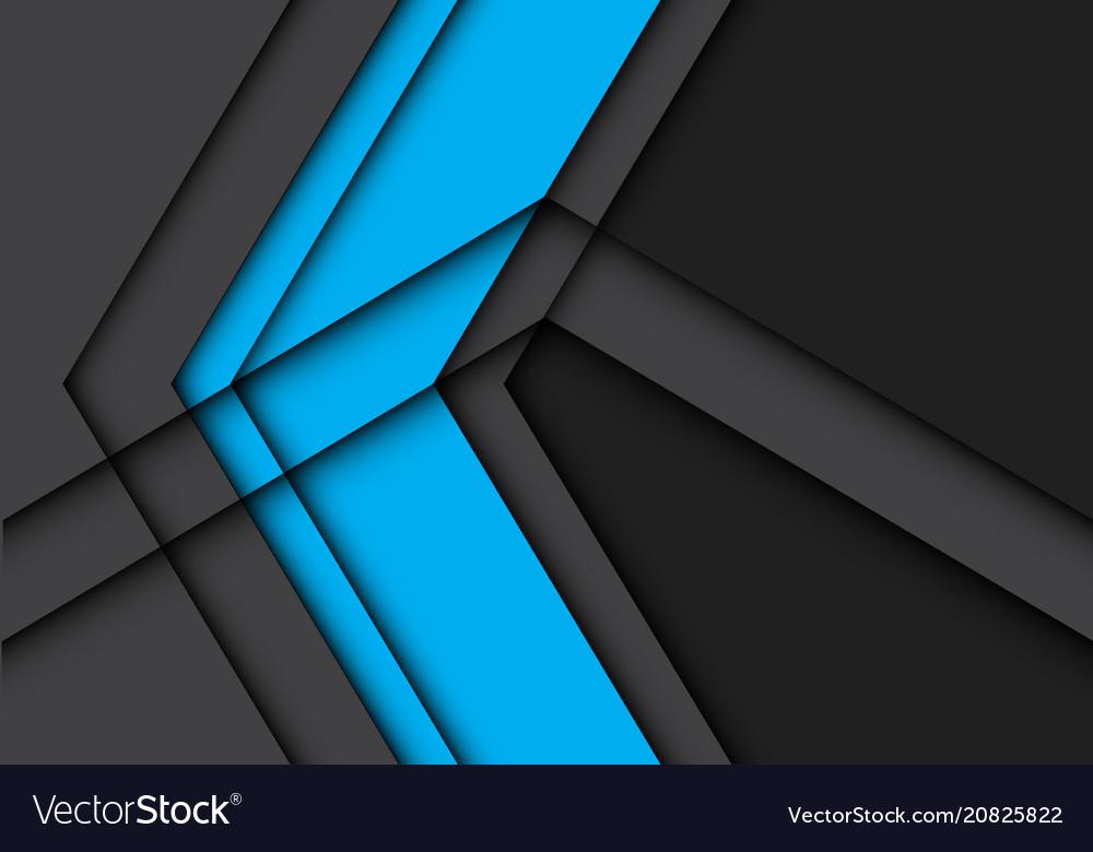 Abstract blue arrow on gray design modern