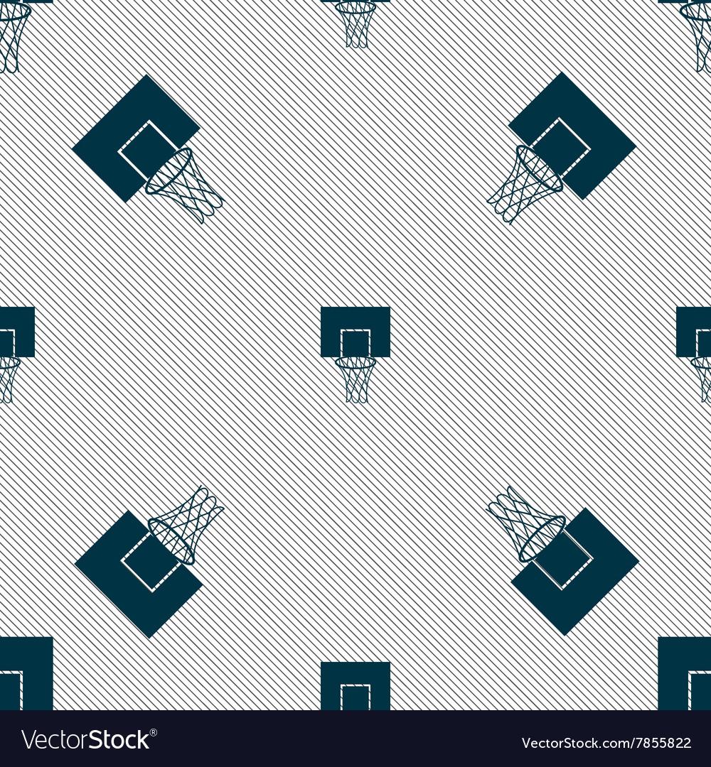 Basketball backboard icon sign Seamless pattern
