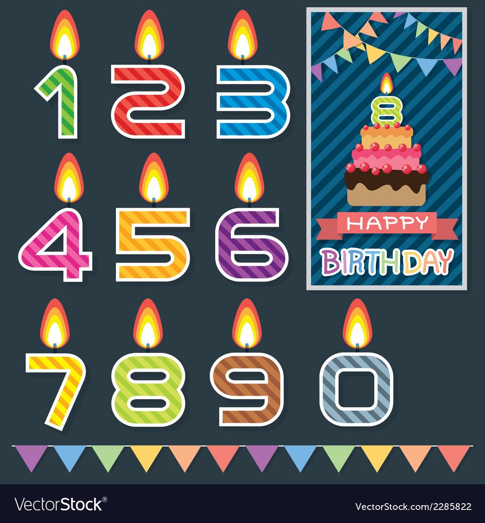 Birthday candle design