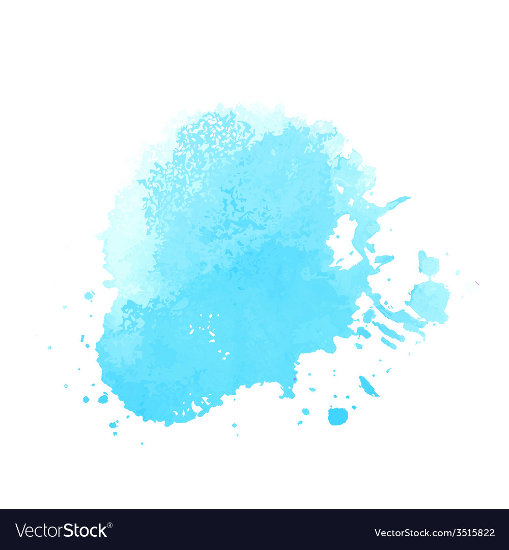 Bright blue watercolor
