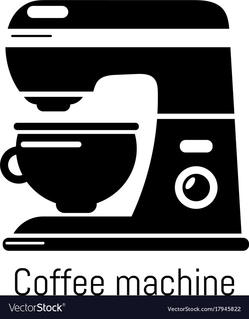 Coffee machine icon simple black style