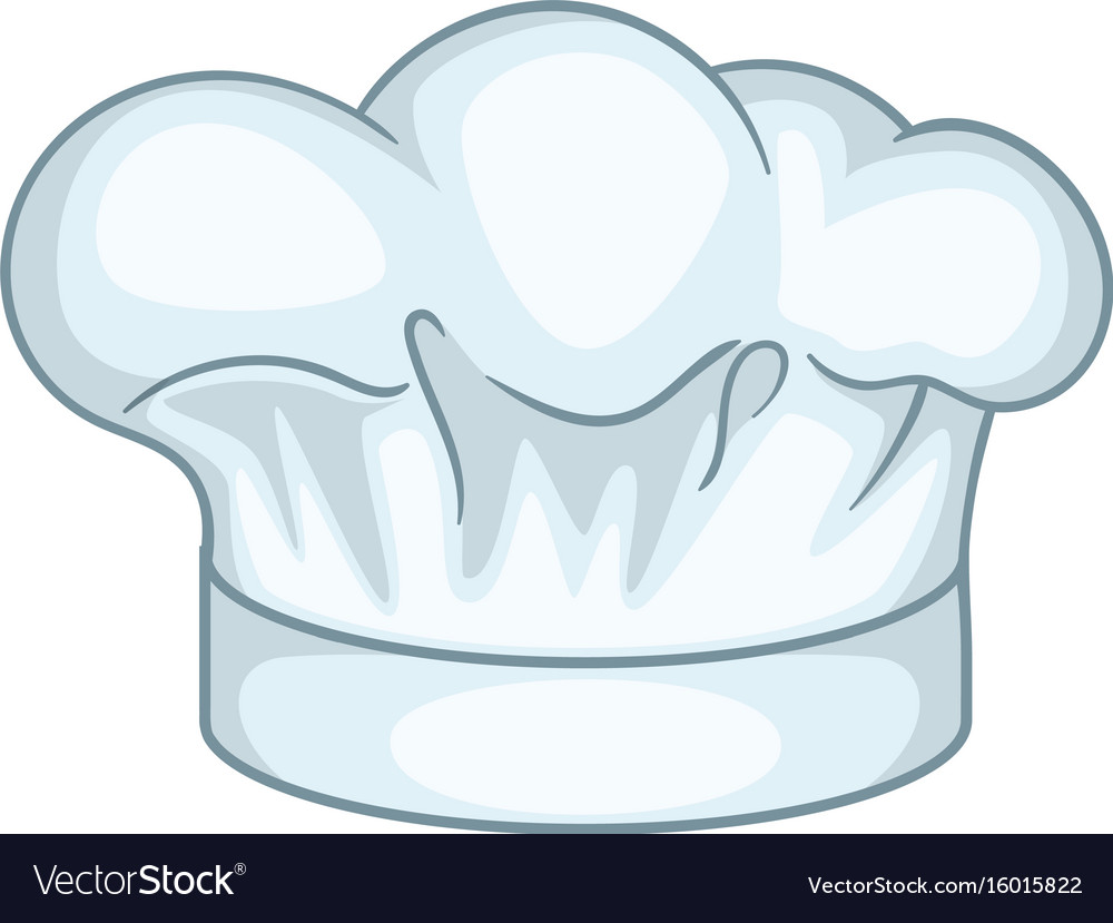 Cook hat icon cartoon style