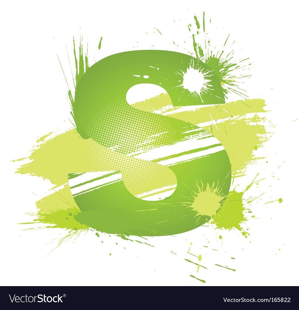 Letter S background vector image