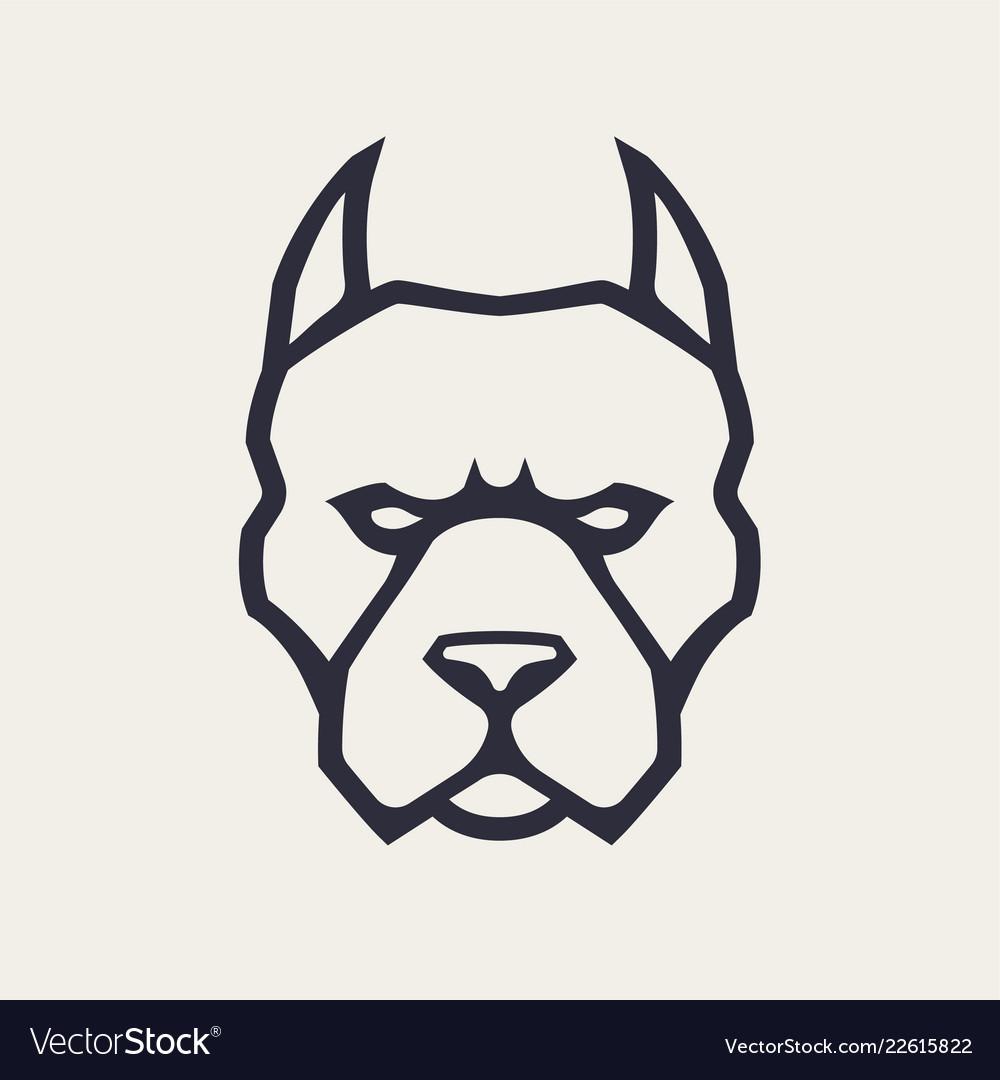 Pitbull mascot icon