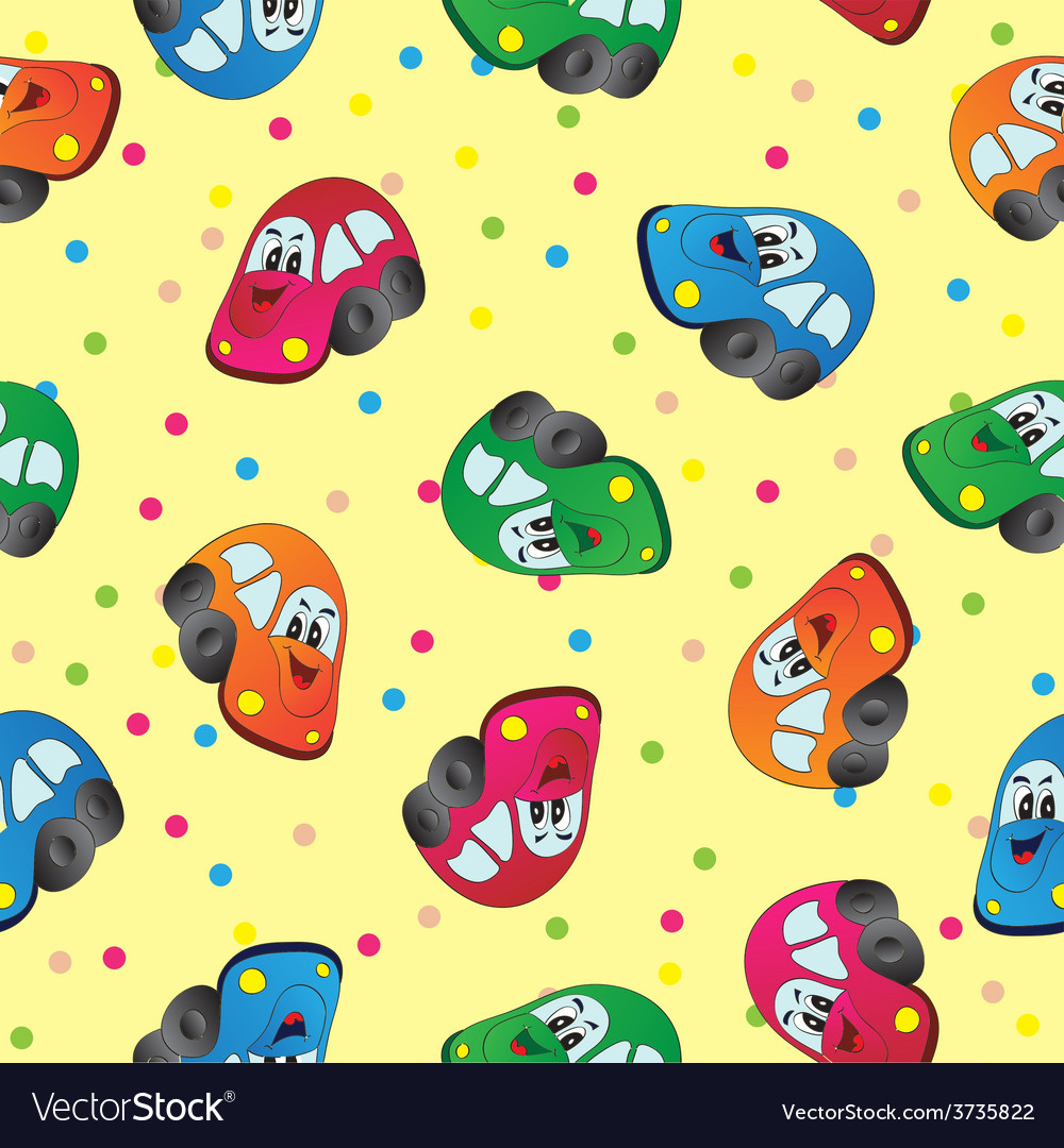 Seamless toy car background for baby boy