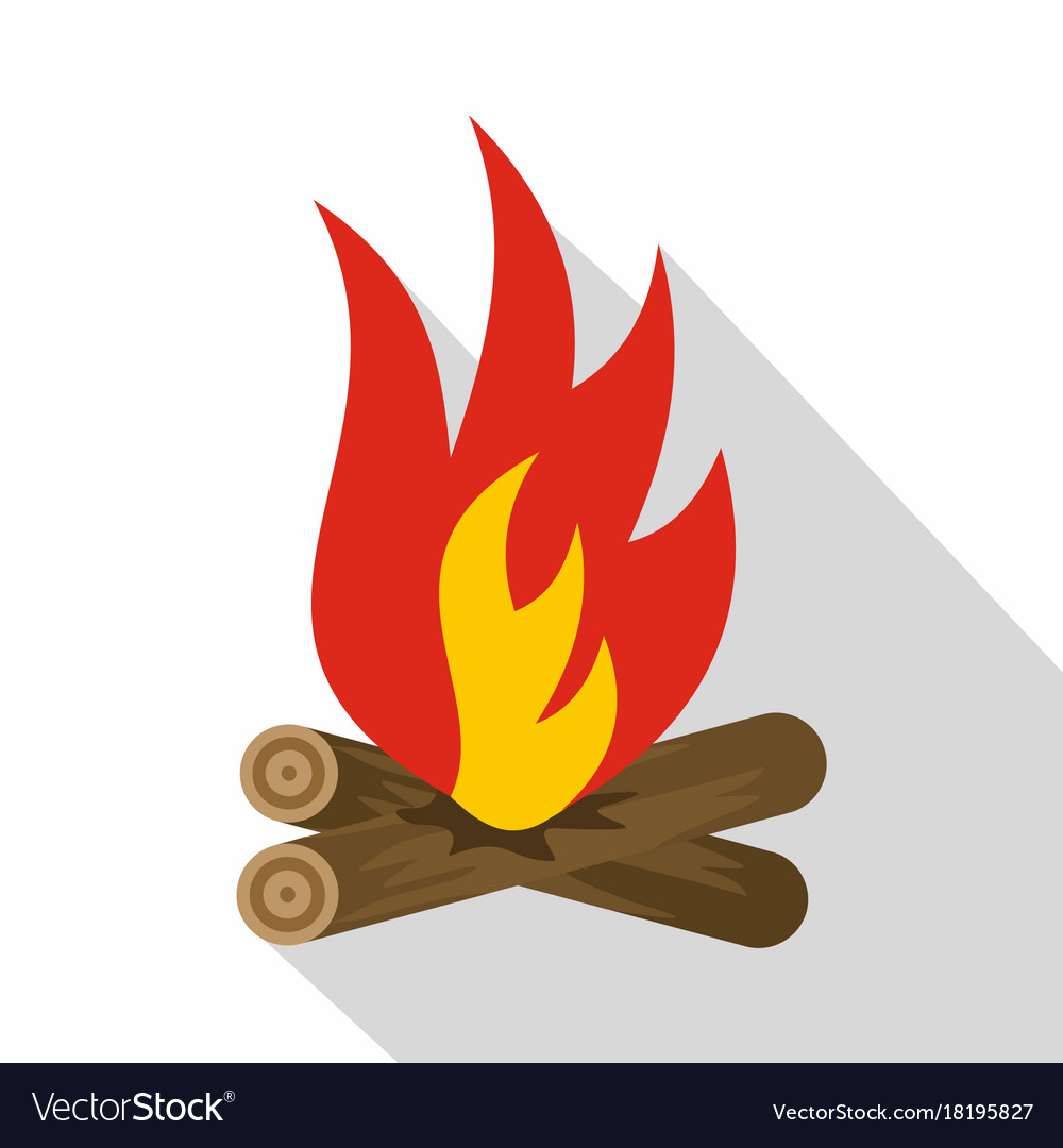 Bonfire icon flat style vector image