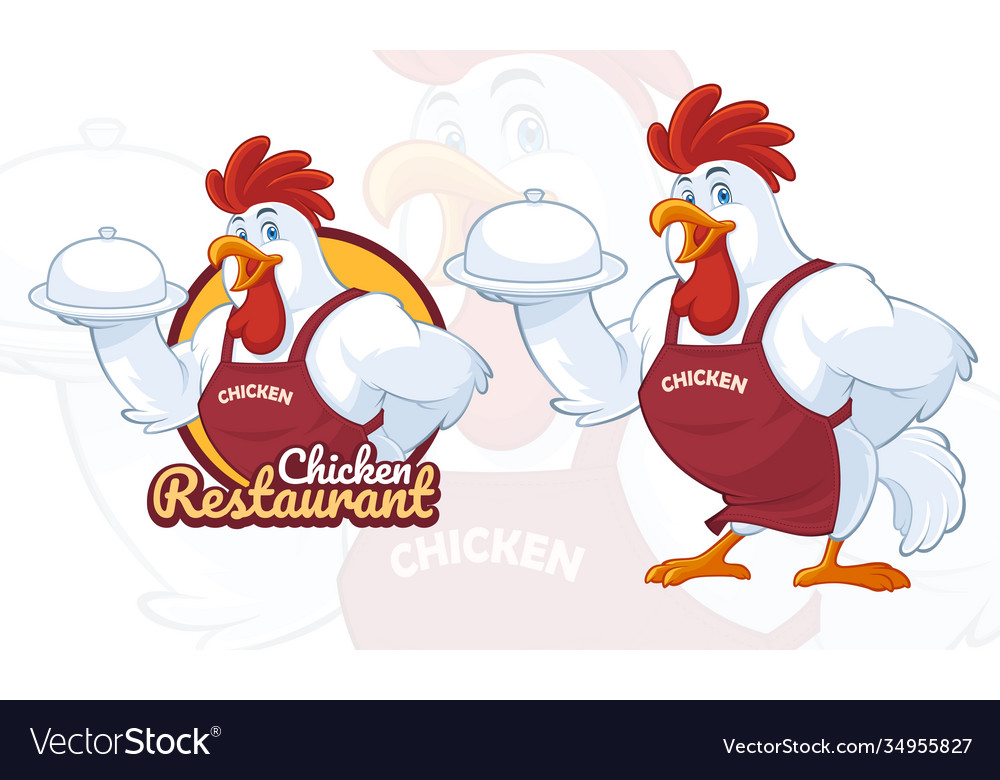 Chicken mascot design for restaurant business