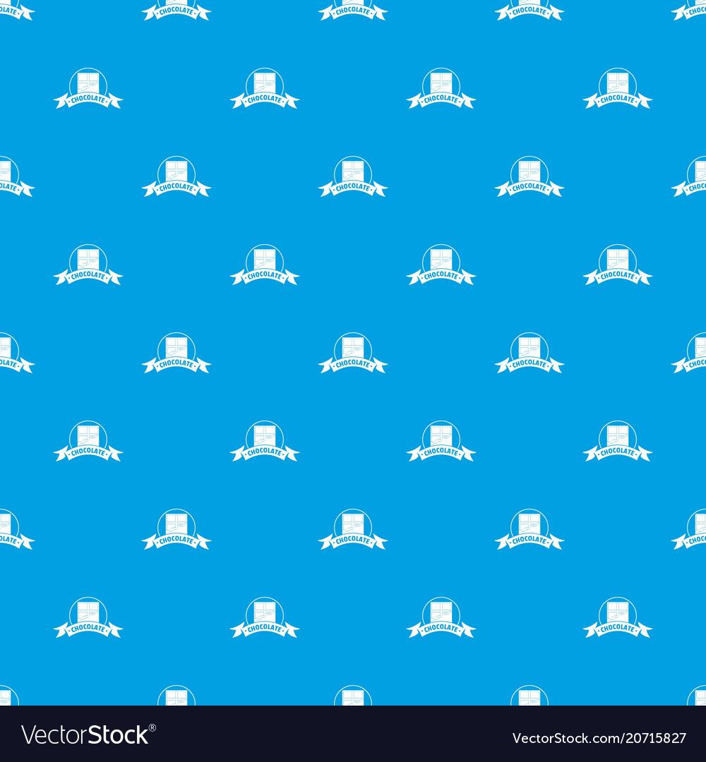 Chocolate pattern seamless blue
