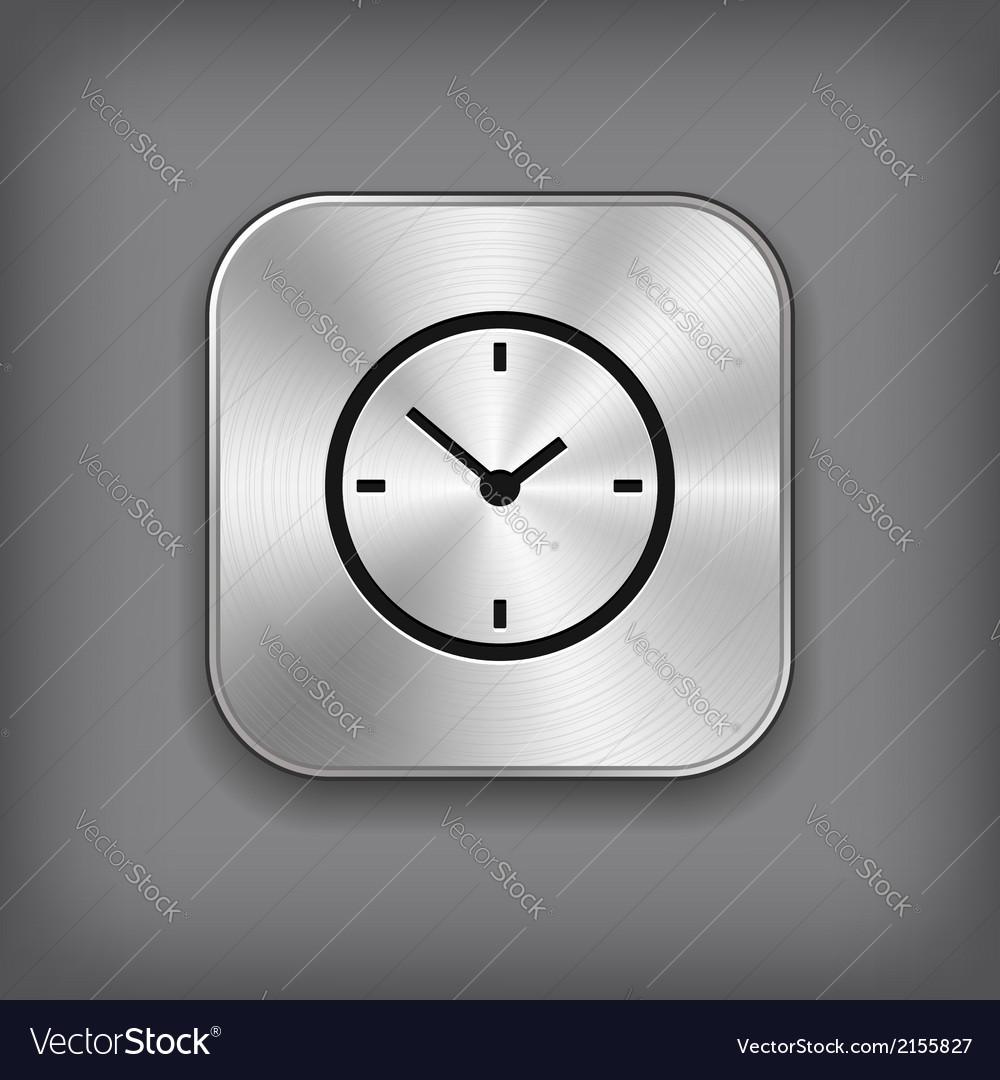 Clock icon - metal app button