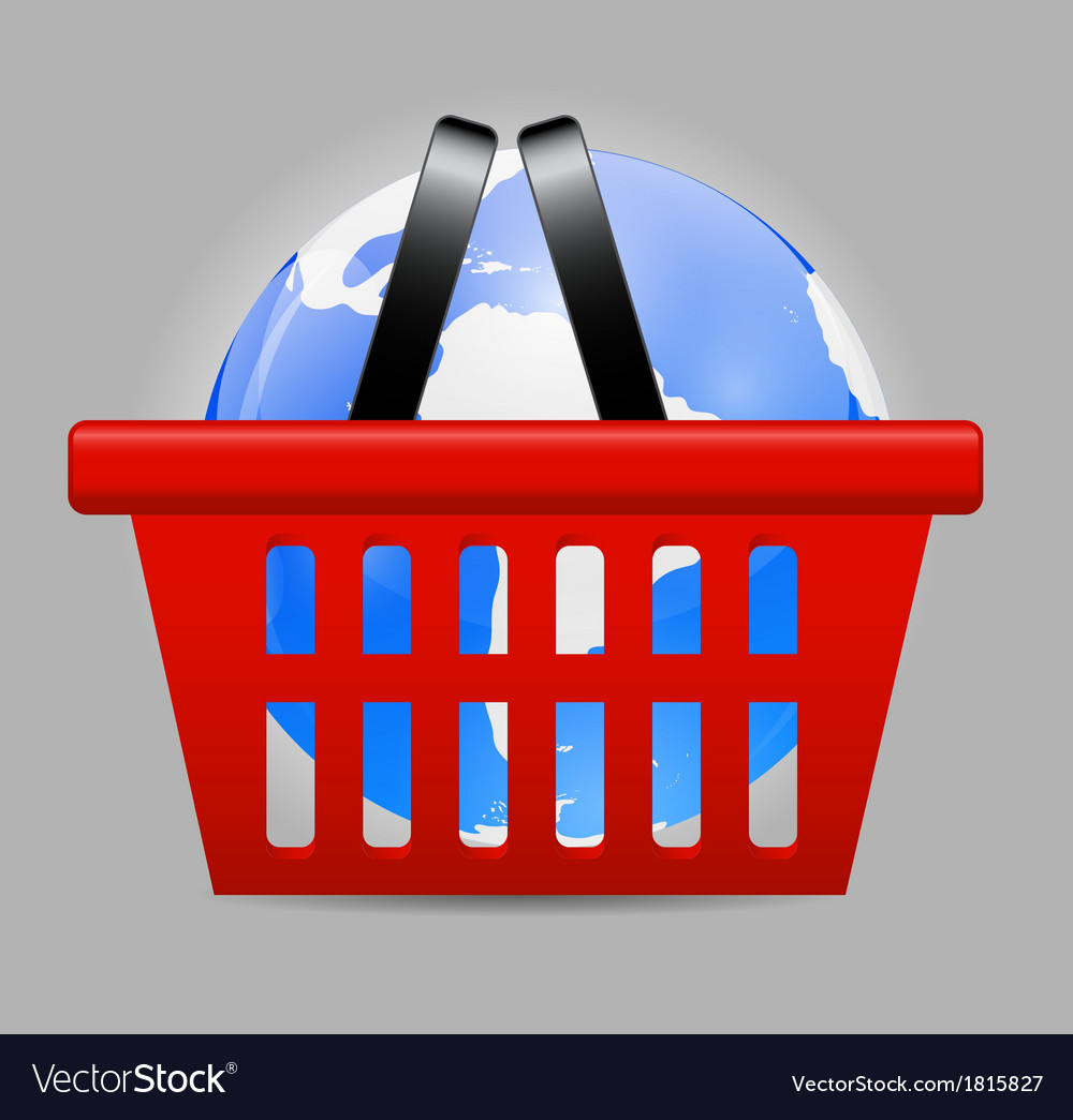 Global Shopping Concept vector image