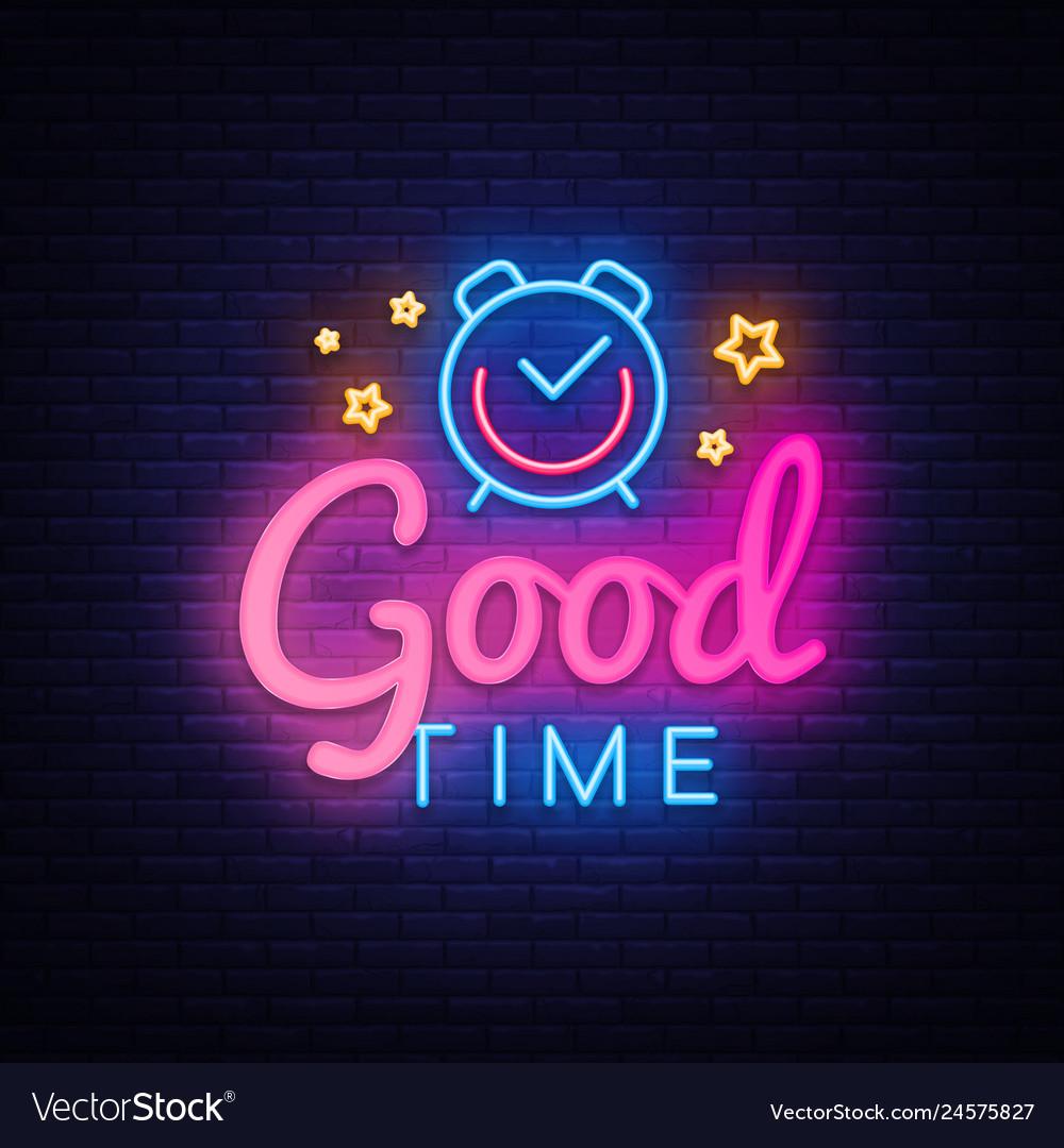 Good time neon sign good time design
