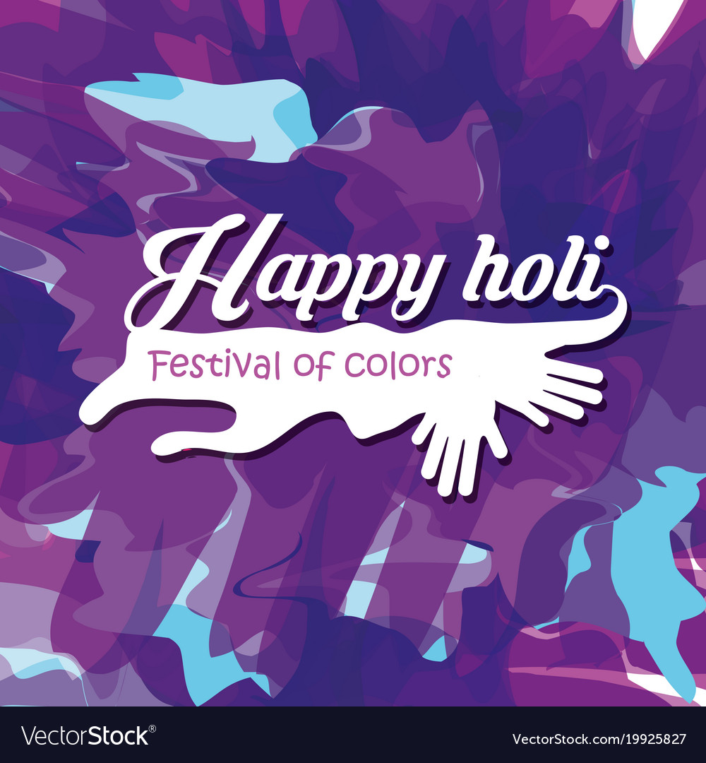 Happy holi design