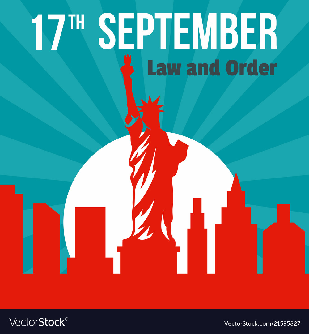 Law and order 17 september background flat style