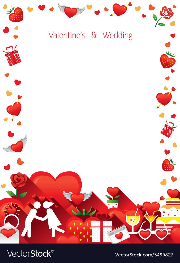 Love Border Frame Royalty Free Vector Image - VectorStock