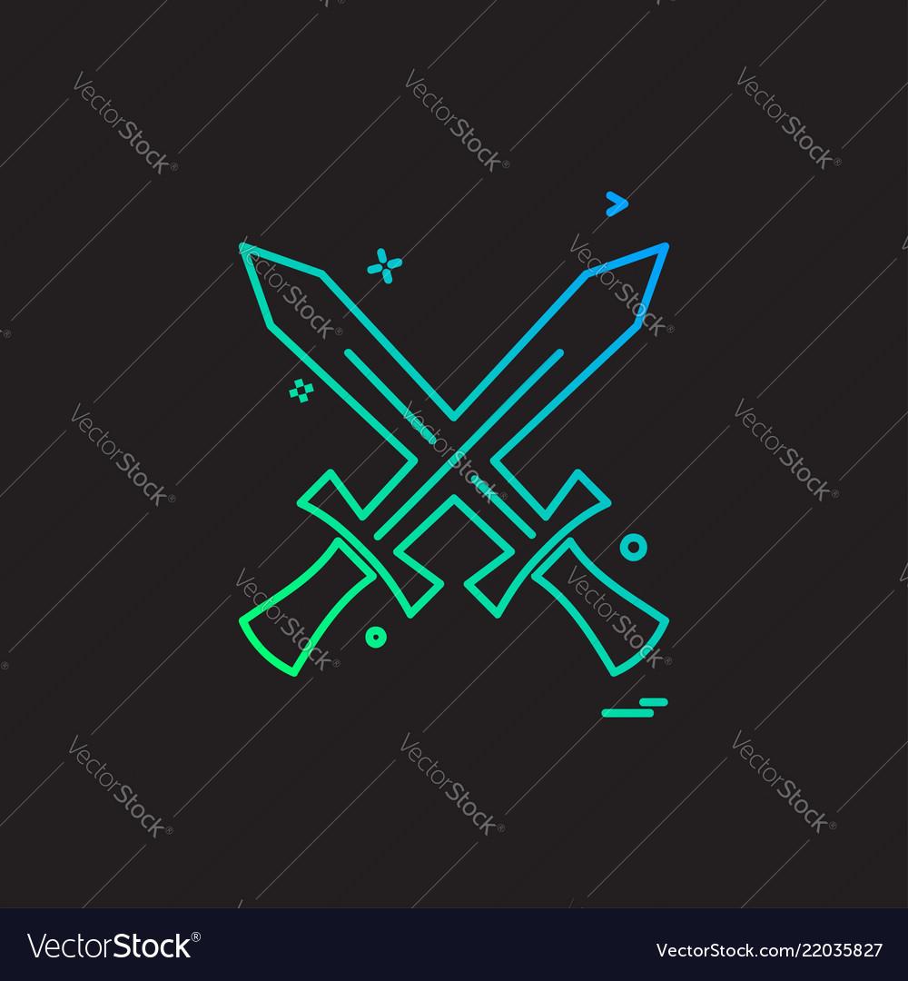 Swords icon design