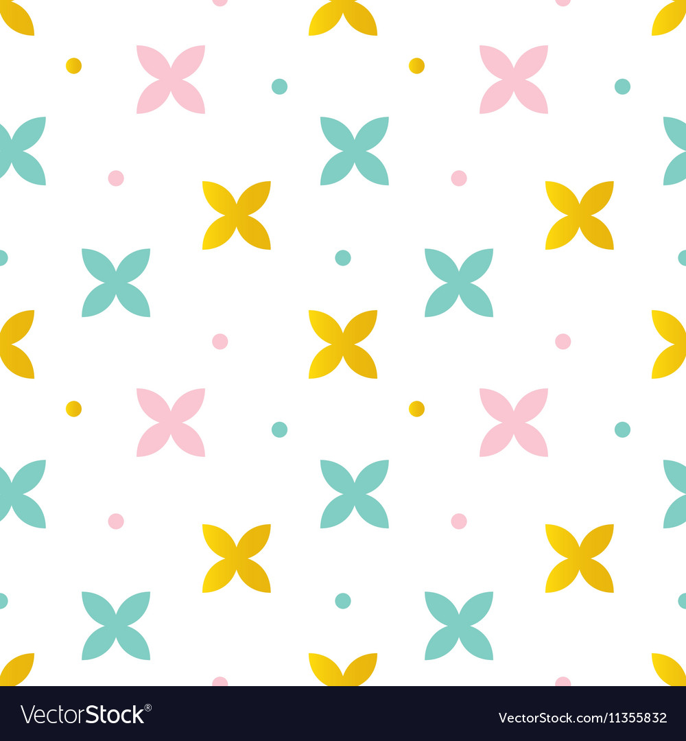 Colorful abstract floral seamless pattern
