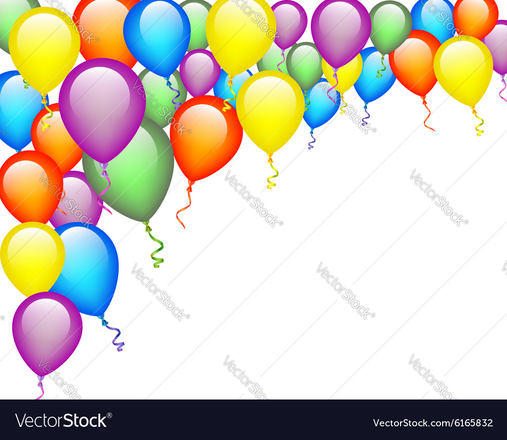 Colorful Balloon Background Royalty Free Vector Image