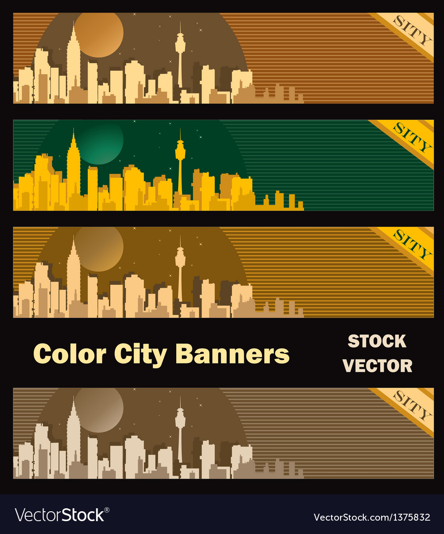 Different color vector image