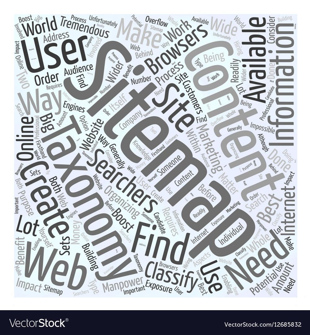 JP sitemap taxonomy Word Cloud Concept