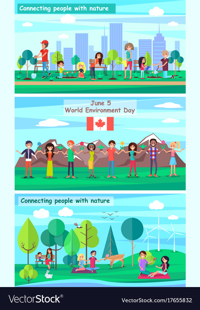 June 5 World Environment Day Promotional Posters Vector Image