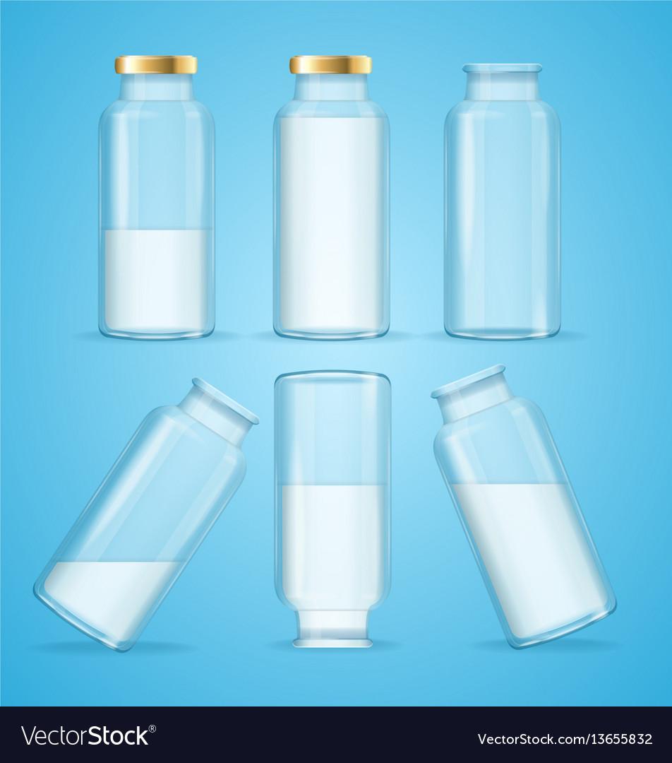 Milk bottles drink set