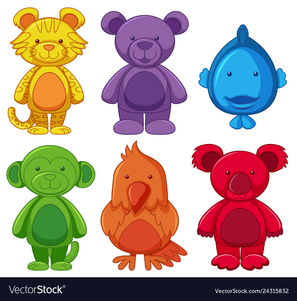 Set of animal cartoon character
