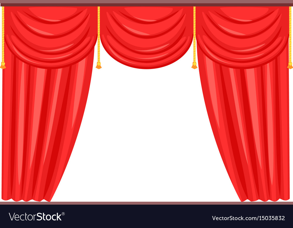 Silk classical curtains for opera or theater decor