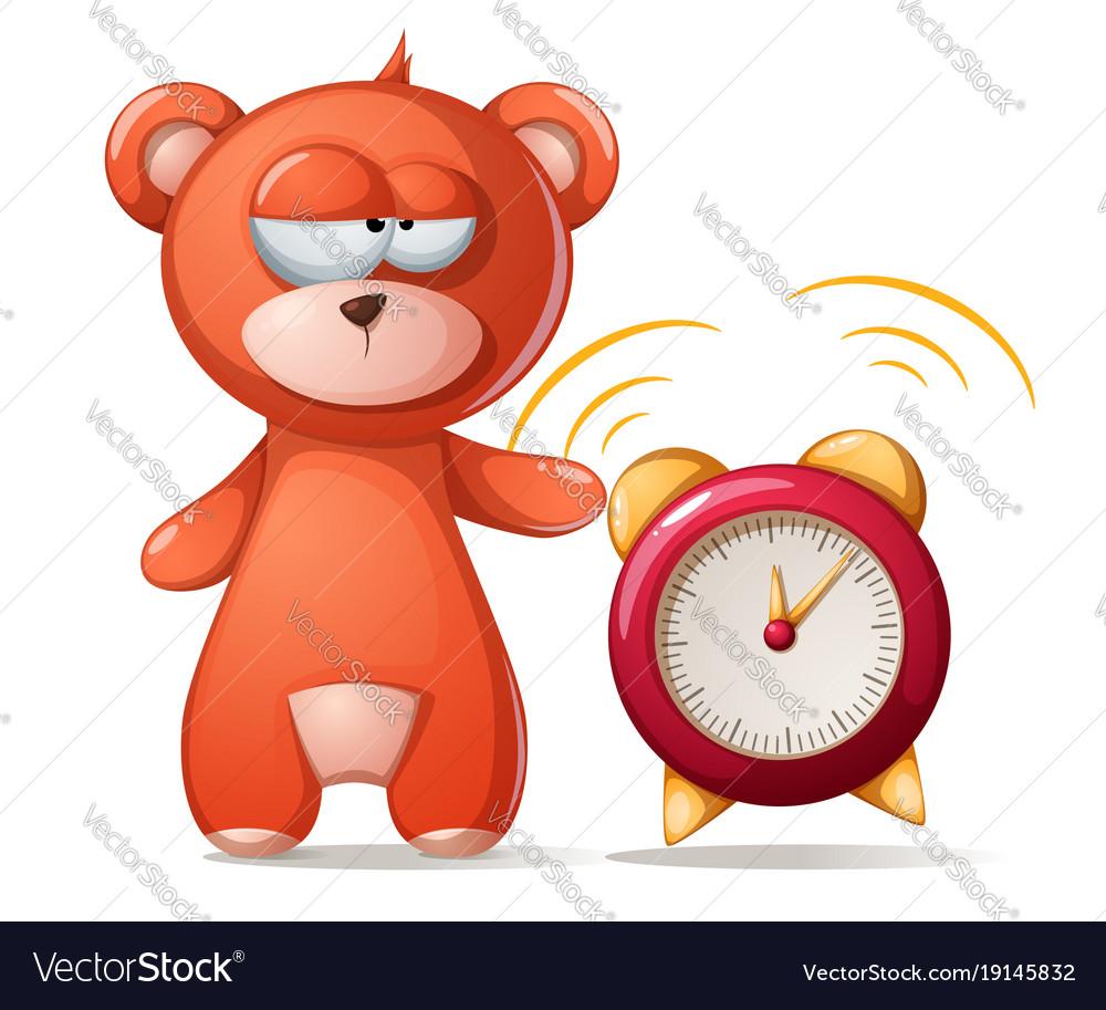 Sleeping bear funny cute alarm