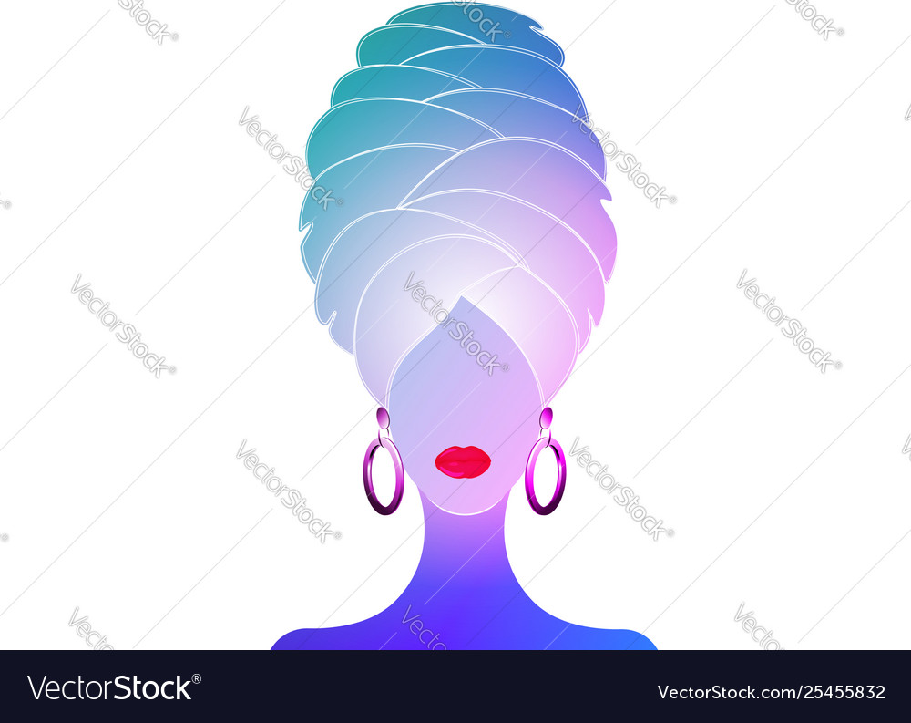 Woman with a towel on head after shower spa