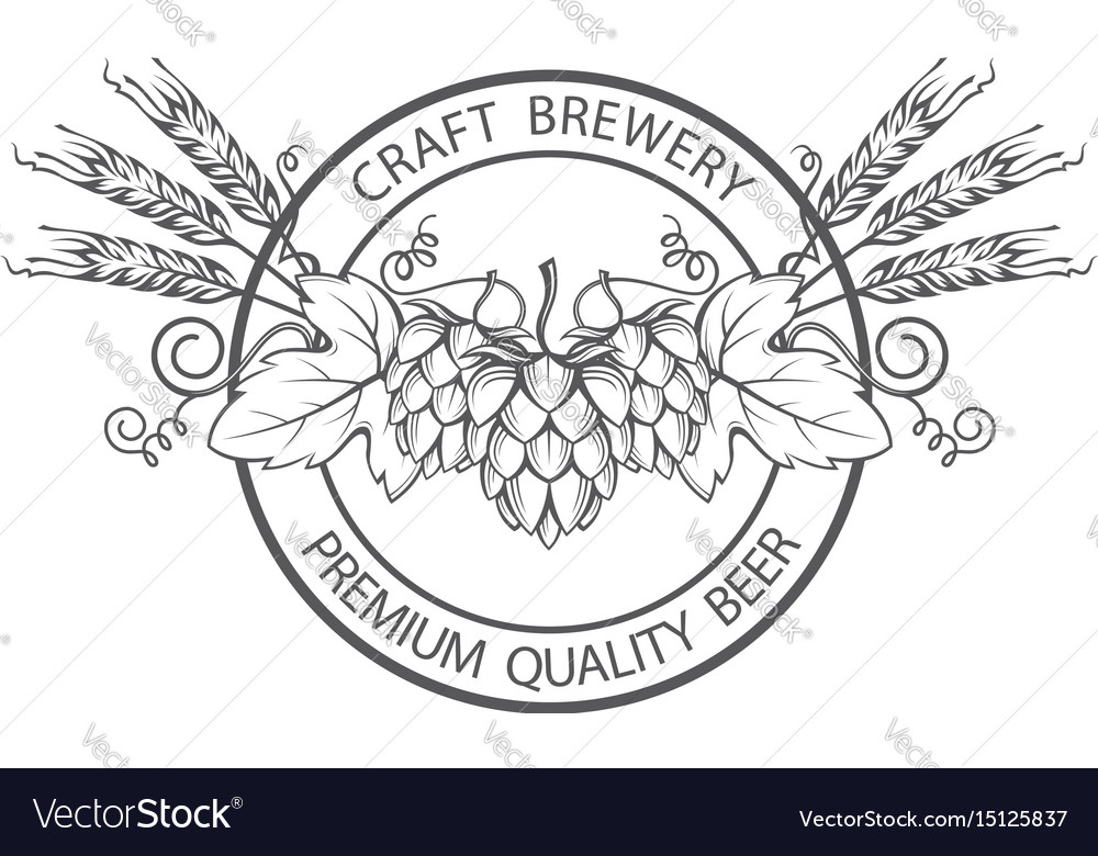 Stamp with hops and barley ear