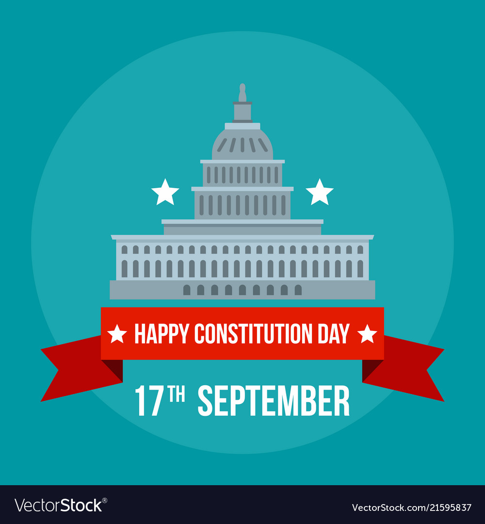 White house constitution day background flat