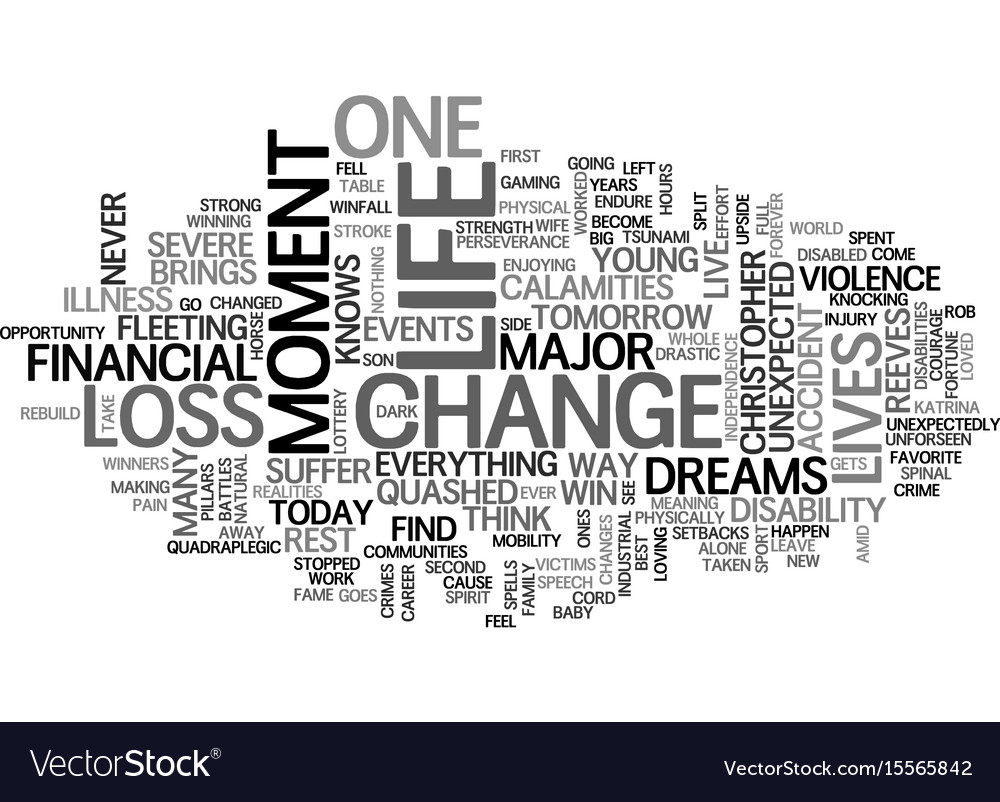 A moment can change a life text word cloud concept