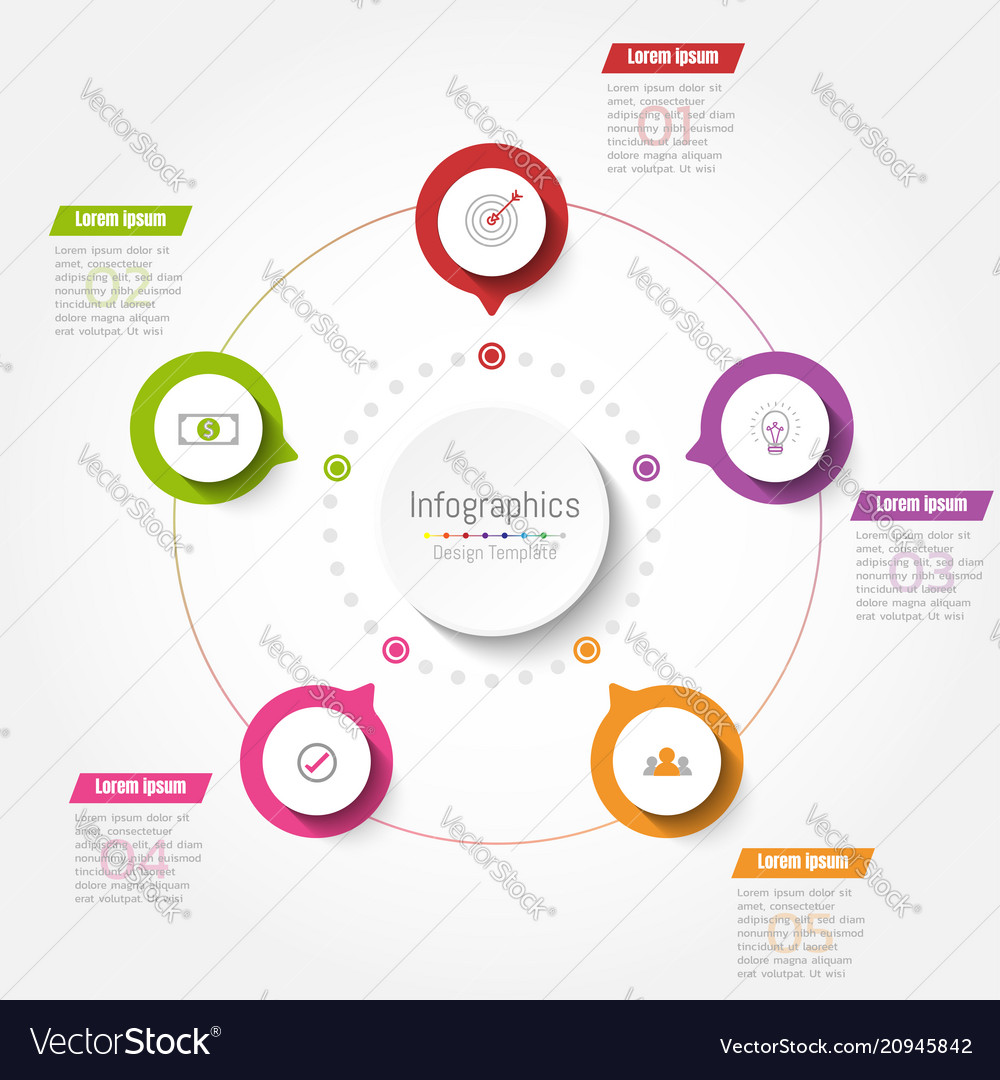 Abstract infographics business step options