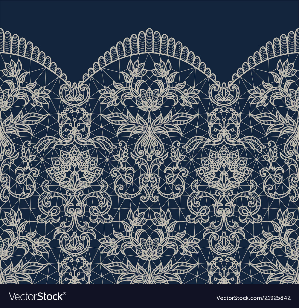 Blue lace border background